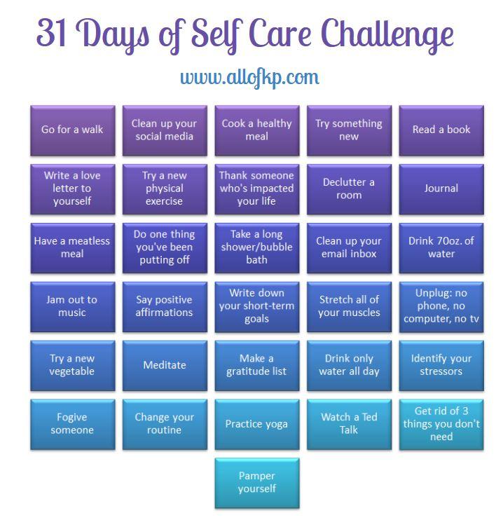 31 Days of Self Care