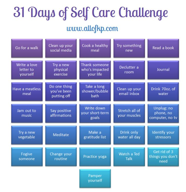 31 Days of Self Care